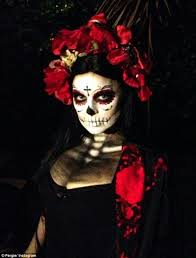 la muerte costume fergie and josh duhamel coordinate in day of the dead