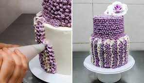 crochet buttercream cake technique by cakesstepbystep youtube