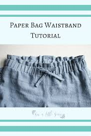 paper bag toddler shorts pattern paper bag waist tutorial sew a little seam
