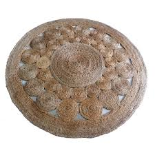 Round Traditional Rugs Traditional Rug Patterned Jute Round Neema Maria