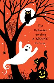 spooky greetings greeting card halloween printable card