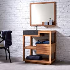 Solid Oak Bathroom Furniture Uk by Solid Wood Washstand Bathroom Washstand Tikamoon