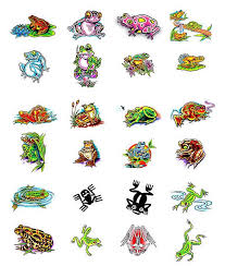 collection of 25 n colorful frog design