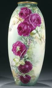Chinese Hand Painted Porcelain Vases Beautiful Antique Porcelain Vase Hand Painted Victorian Roses