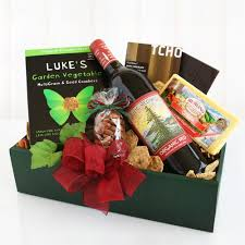 wine and cheese gift baskets organic wine and cheese gift basket in a box california delicious