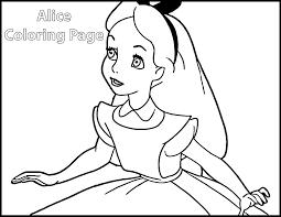 alice wonderland coloring pages coloringsuite