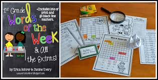 first grade words of the week u0026 a free year long scope u0026 sequence