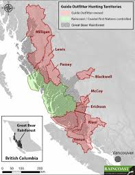 Canada Territories Map by Coastal Grizzly Hunt Territories Eyed For Purchase By First