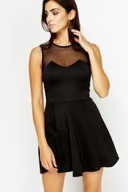 black skater dress mesh sweetheart black skater dress just 5