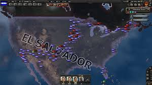 Central America Map Game by Los Estados Unidos Del Salvador Hoi4