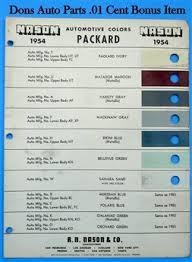 don u0027s 1 cent packard paint chips