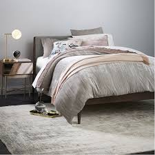 Brocade Duvet Cover Lush Velvet Quilt Shams Dusty Blush West Elm