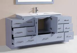 Bathroom Vanity With Side Cabinet 72 Redondo Gray Single Modern Bathroom Vanity With 2 Side
