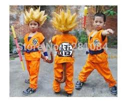 Goku Halloween Costumes Wholesale Halloween Party Dragon Ball Goku Cosplay Costume
