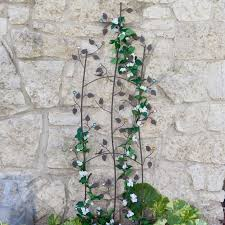 coral coast jeweled grape vine metal wall garden trellis hayneedle