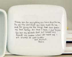 wedding gift letter handwritten letter plate thank you and wedding gift
