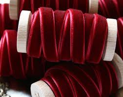 burgundy velvet ribbon wine velvet ribbon etsy