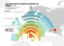 atlas map of europe european food according to italians brilliant maps