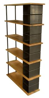 Custom Metal And Wood Furniture Modern Large Wood And Metal Industrial Bookshelf