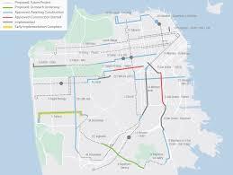 Muni Metro Map by Muni Forward Transit Priority Projects Sfmta