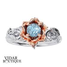 flower engagement rings aquamarine lotus flower engagement ring vidar boutique vidar
