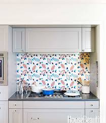 unique kitchen backsplash idea fabric under glass