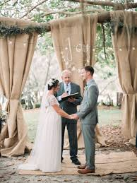 wedding backdrop cost make a pretty and cost effective ceremony backdrop with burlap