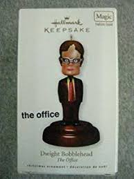 dwight bobblehead office 2010 hallmark ornament home