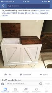 decorative recycling containers for home best 25 trash can cabinet ideas on pinterest hidden trash can