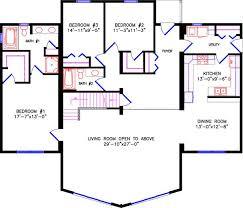 open floor plans with loft chalet