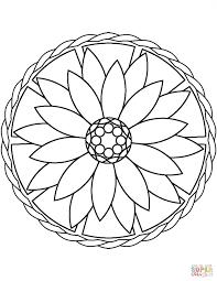 Adult Simple Mandala Flower Coloring Page Printable Click The Mandala Flowers Coloring Pages