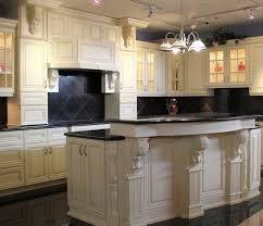 Vintage Kitchen Backsplash Off White Cabinets Beautiful Kitchen Features A Pair Of Round