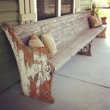 Church Pew Home Decor Old Church Pew On The Front Porch Beautiful Rooms And Porches