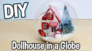diy miniature dollhouse kit cute christmas globe ornament with