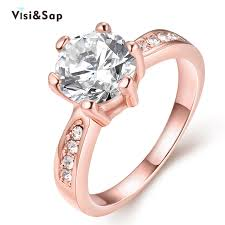 cute rings images Visisap korean cute wedding rings for women rose gold color ring jpg