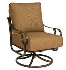 Woodard Cortland Cushion Patio Furniture Outdoor Woodard Cortland Cushion High Back Swivel Rocker Patio
