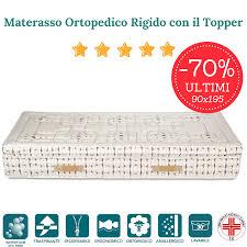 materasso rigido materasso singolo 90x195 rigido in waterfoam hr con topper alto 30 cm