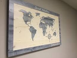 world map wall art carved wooden world map with countries wood