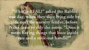 velveteen rabbit nursery what is real excerpt from velveteen rabbit
