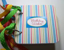 birthday wish book birthday scrapbook personalised buttons gift birthday photo