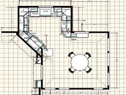 Kitchen Floorplans Outstanding Kitchen Floor Plans With Island Pictures Inspiration