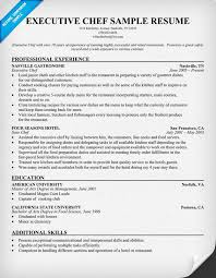 Resume Examples For Cooks by Download Chef Resume Example Haadyaooverbayresort Com