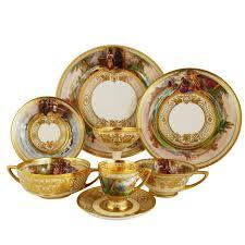 important dresden ambrosius lamm opera set vintage dinner service