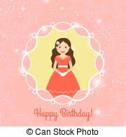 vector clipart of template for greeting card happy birthday with