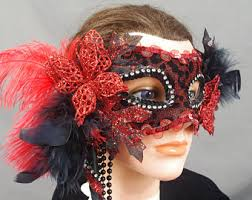 Black Mask Halloween Costume Butterfly Mask Etsy