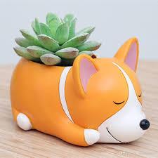 Animal Pots 2017 Cute Dog Shaped Cartoon Home Decoration Succulent Vase Flower