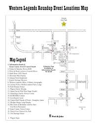 Kanab Utah Map by Schedules And Maps Western Legends Round Up