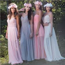 kleid fã r brautjungfer lavendel brautjungfernkleider lang günstig rosa chiffon kleider