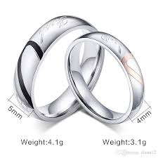 circle wedding rings 2017 jewelry 316l stainless steel silver half simple circle