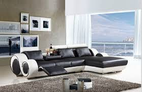 Modern Reclining Leather Sofa Modern Sectional Leather Sofa With L Shaped Sofa Furniture For